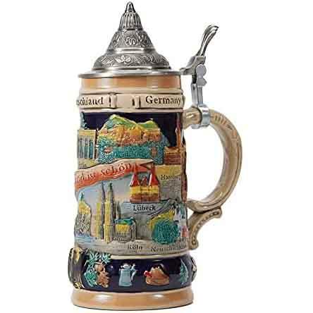 German-Themed ceramic beer stein