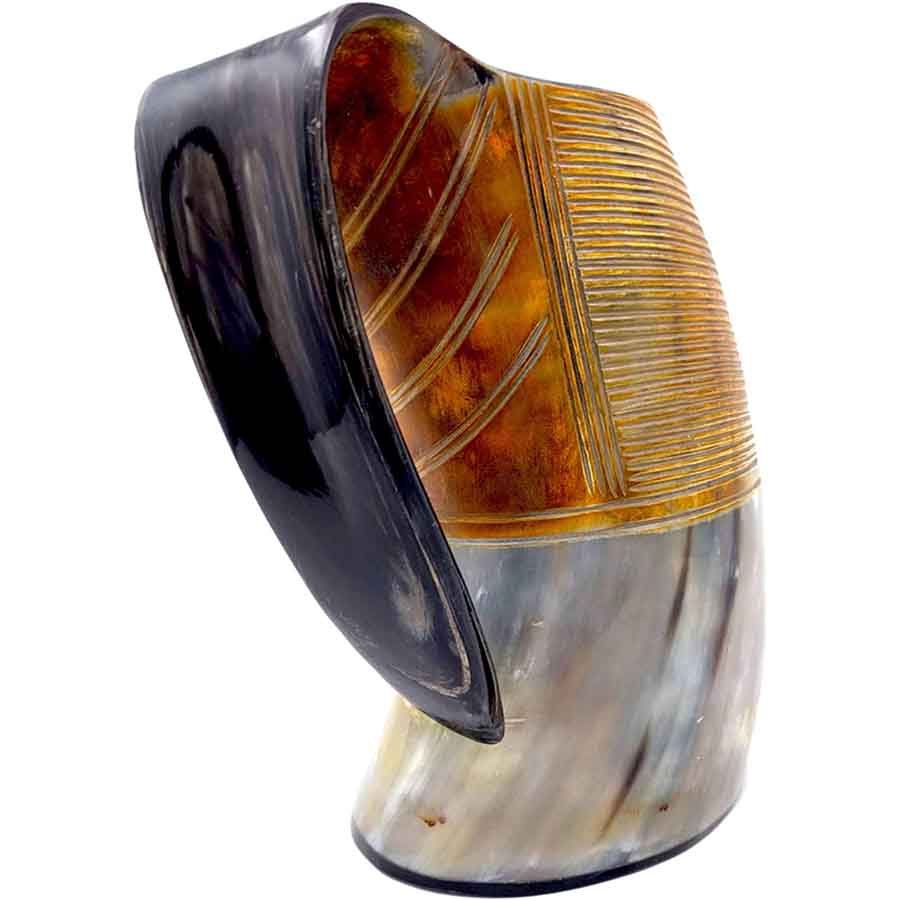 Genuine Ox Horn Tankard for Ale