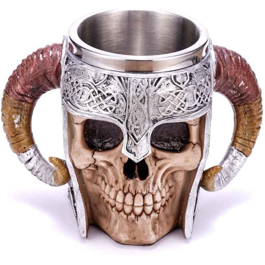 Viking Warrior Skull Beer Mug