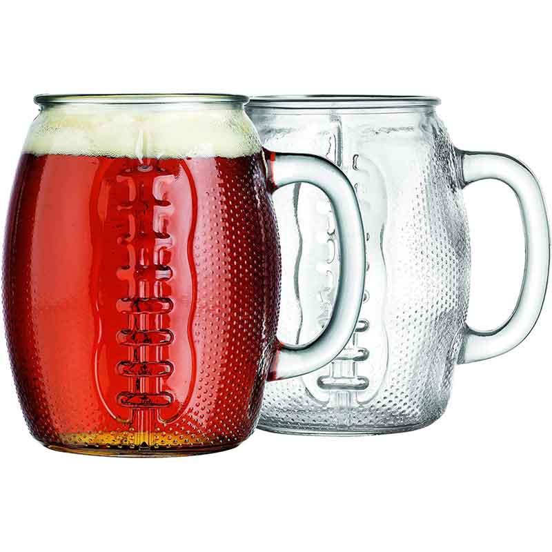 Jumbo 37 Oz Football Beer Glass